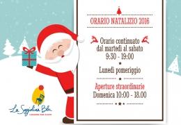 L'orario di Natale 2016